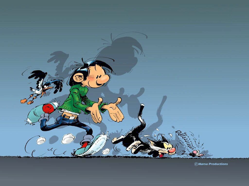 Gaston Lagaffe, wallpaper